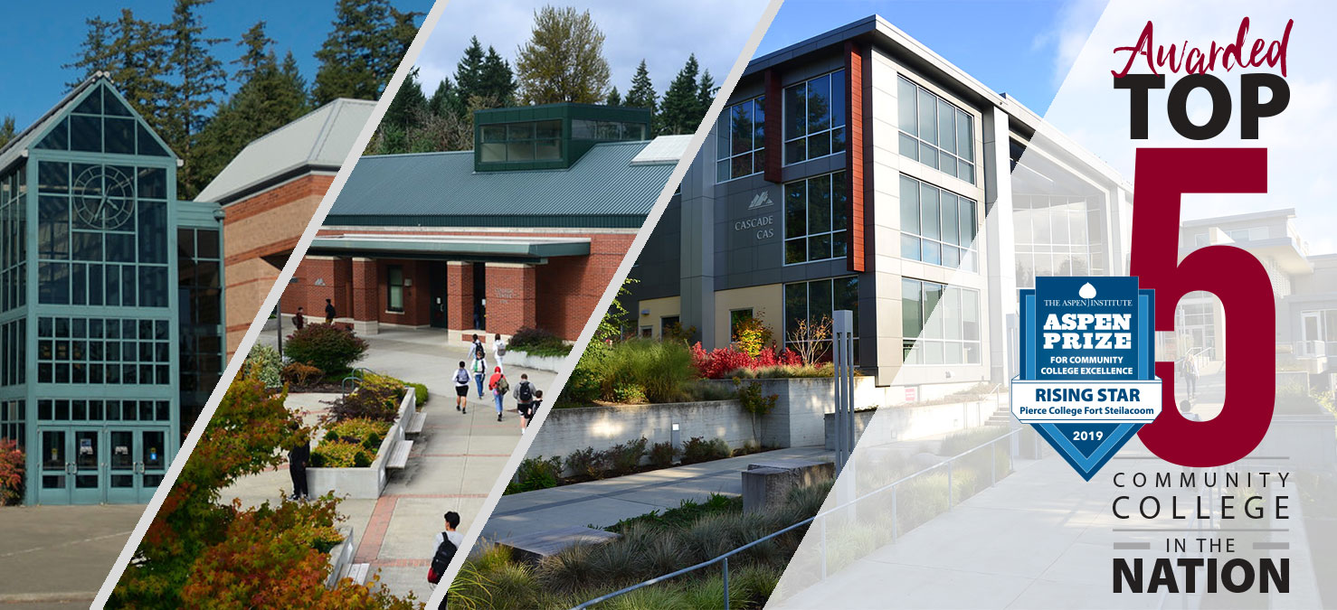 Puyallup, Ft. Steilacoom and JBLM campuses and Aspen Top 5 logo