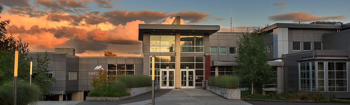 Pierce College Fort Steilacoom Cascade Building at Sunset